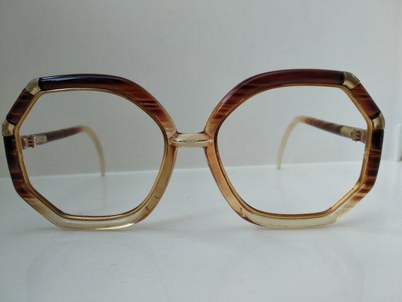 Vintage 80s Ted Lapidus Woman Oversized Eyewear Fr