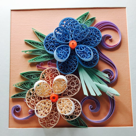 Floral 3d Quilled Wall Art Quilling Paper Designs Etsy