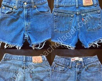 c5ab2148 ALL SIZES Sale Cheap LEVI shorts custom cut off jean denim high waisted  summer shorts made to order
