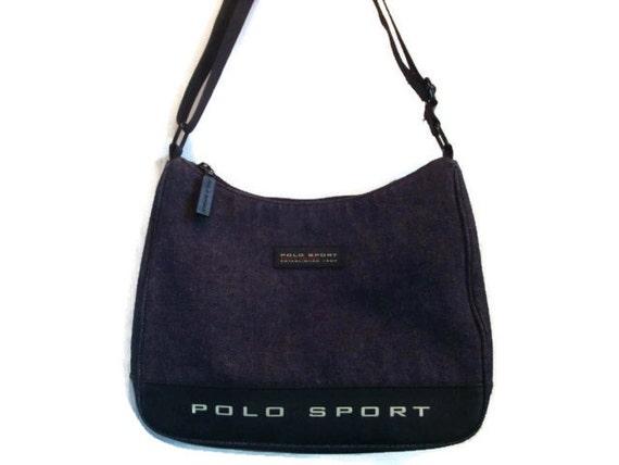 c7db5a34ac2 vintage RALPH LAUREN denim Polo sport shoulder blue jean   Etsy