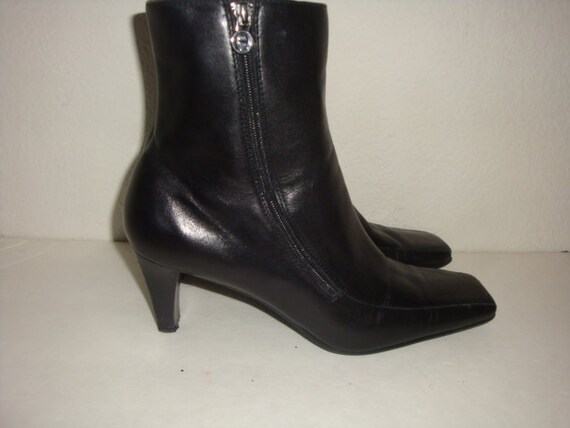 bottines t cuir Vintage ETIENNE chelsea AIGNER noir c BO0Ifq