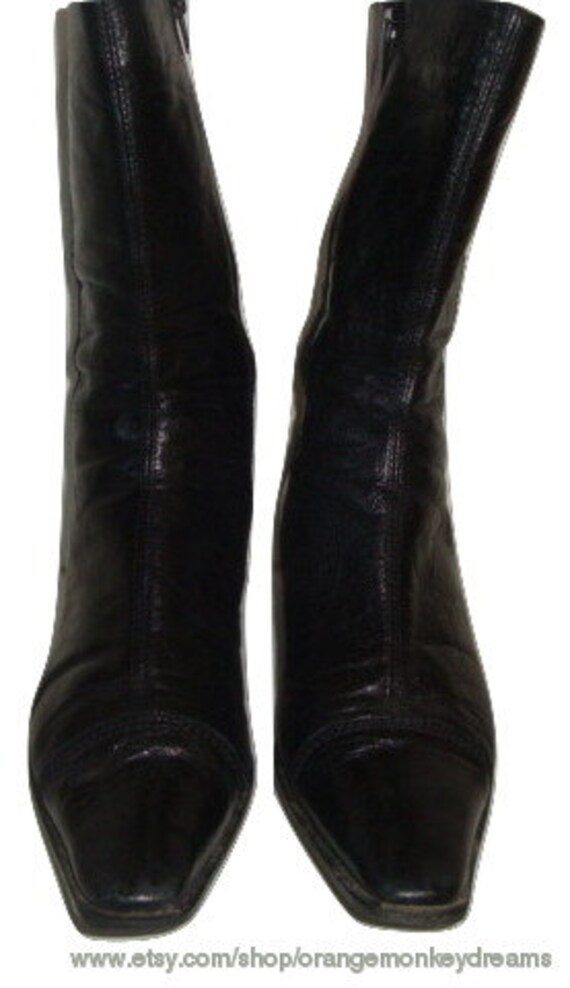 1 women boho 8 in Artigiana western 39 hipster boots vintage indie made leather CHELSEA US Lavorazione ITALY 2 A6cqPUWPO