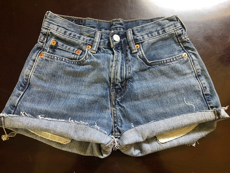 women's frayed denim shorts