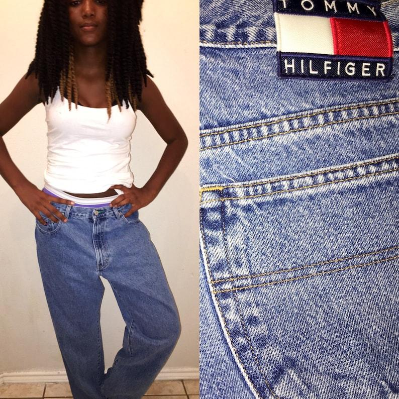 c2a58a73f 29 30 inch waist Vintage 90's Tommy Hilfiger denim   Etsy