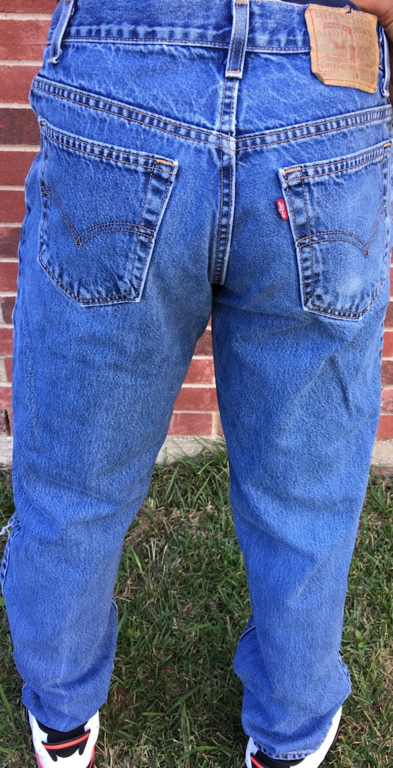 ripped button MEN 46 denim 38 32 fly 40 knee jeans blue 42 44 SIZES 28 30 medium ALL jeans 36 501 34 destroyed Levis wash twz4x6q