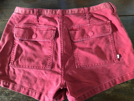VINTAGE 90s Abercrombie & Fitch red shorts grunge indie sz 2 tag women 26