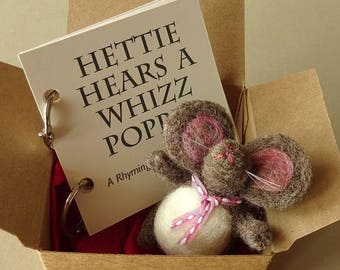 Woodland baby shower gifts from godparent, toddler book, mouse stories, storybook shower