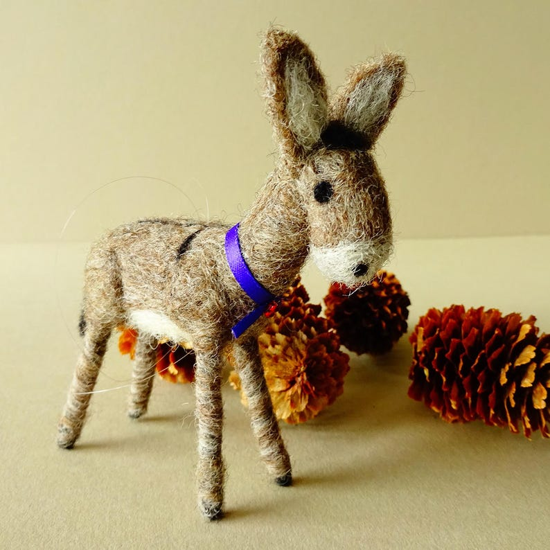 Donkey  Christmas donkey ornament  Holiday decoration  image 0