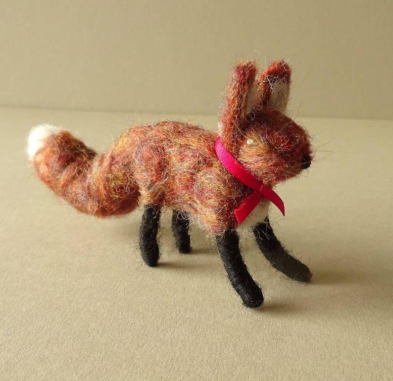 Fox  Christmas tree decoration  Woodland fox sculpture  Fox image 0