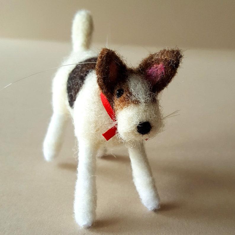 Dog sculpture  Needle felt dog ornament  Dog figurine  image 0