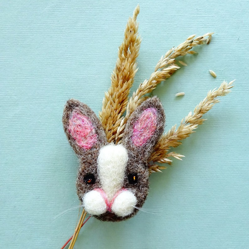 Rabbit  Bunny  Gifts for her Christmas  Bunny rabbit brooch image 0