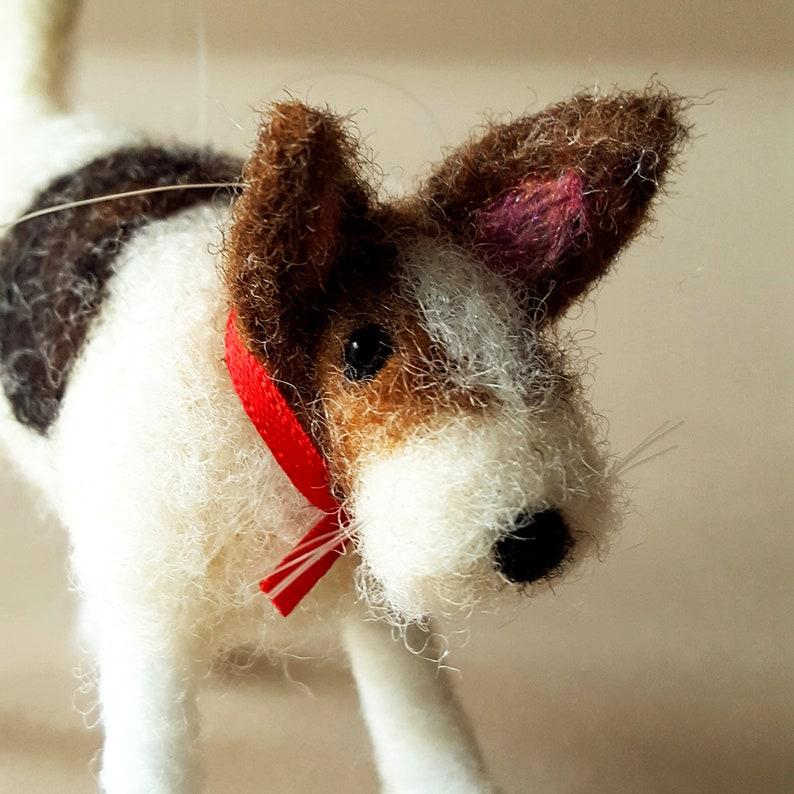 needle felt dog ornament dog figurine miniature dog image 0