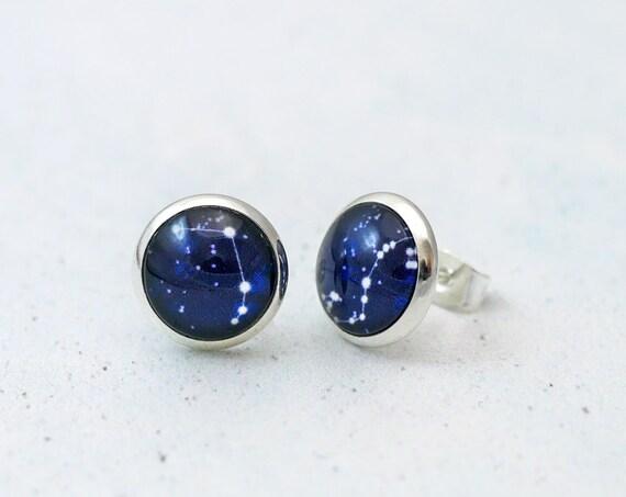 Personalised Zodiac Stud Earrings