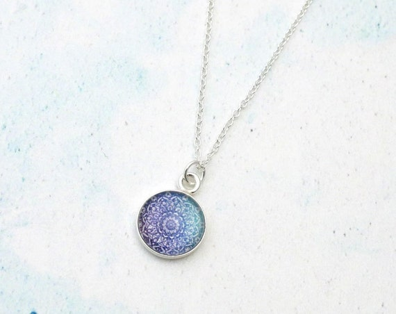 Sterling Silver Cosmos Mandala Necklace