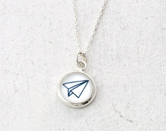 Wanderlust Airplane Necklace, Paper Plane Necklace, Origami Paper Plane, Minimalist Necklace, Wanderlust Jewelry, Travel Necklace