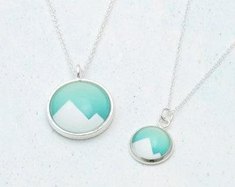 Mountains Necklace, Mountains Jewelry, Wanderlust, Travel Gift, Geometric Necklace, Mountain Range, Graduation Gift, Adventure Awaits