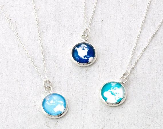 Tiny Globe Necklace