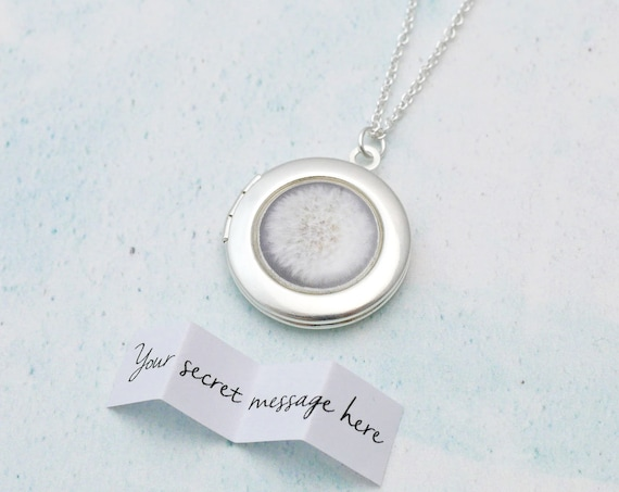 Personalised Make a Wish Dandelion Locket