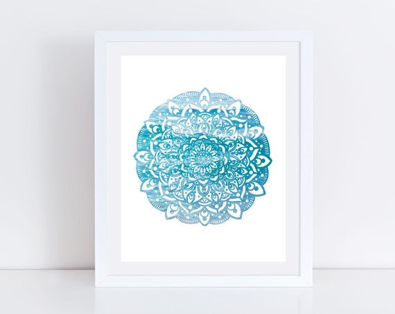 Ocean Mandala Print