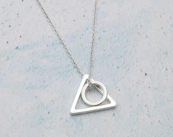 Minimalist Silver Geometric Necklace