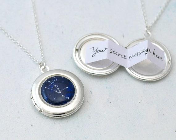 Personalised Zodiac Constellation Locket