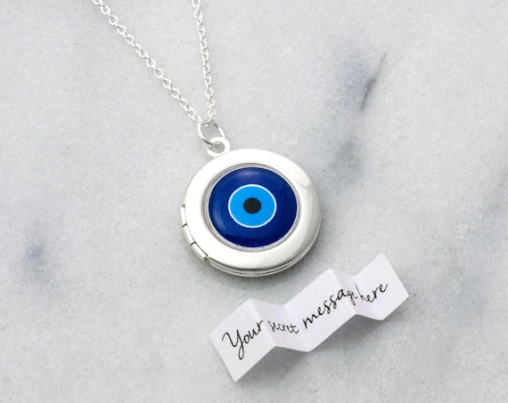 Personalised Evil Eye Locket