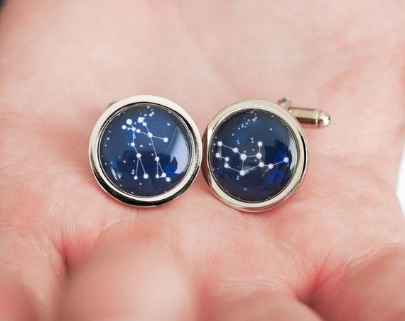 Personalised Zodiac Constellation Cufflinks