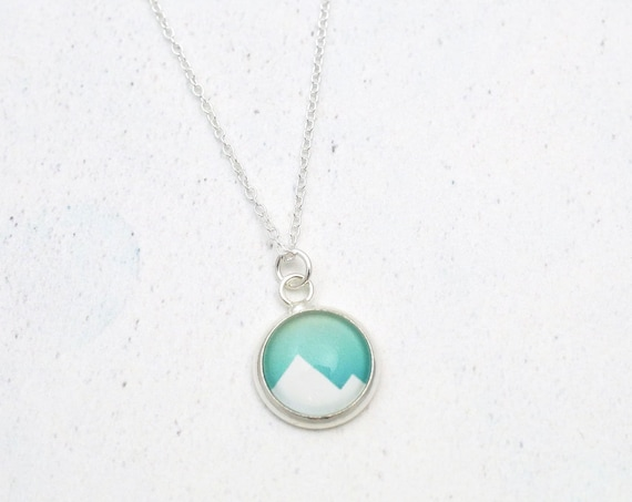 Geometric Mountain Necklace