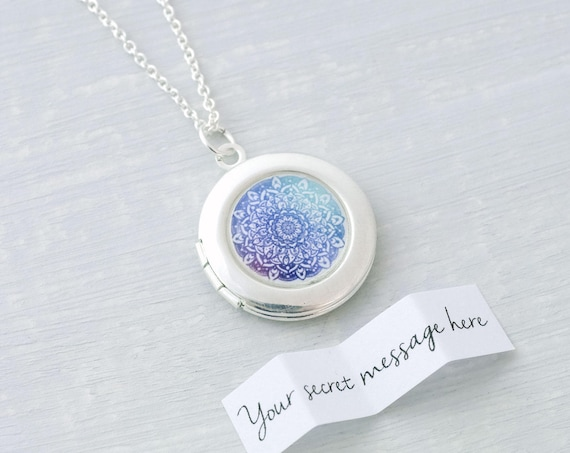 Mandala Locket Necklace