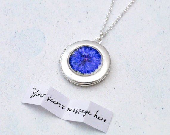 Blue Cornflower Locket
