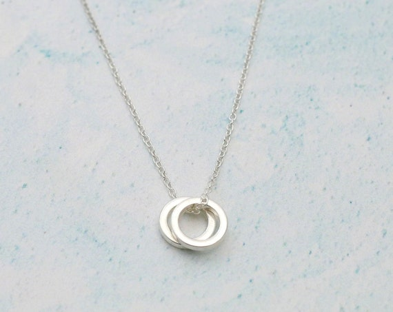 Double Circle Infinity Necklace