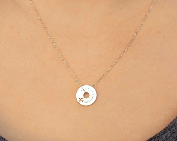 Tiny Airplane Spinner Necklace