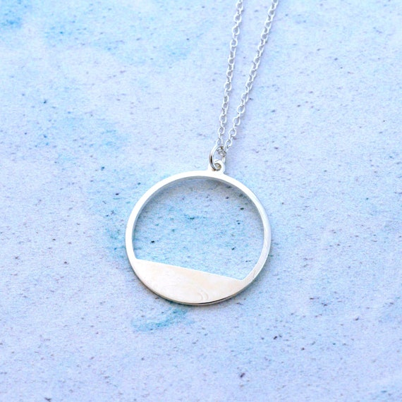 Silver Geometric Sunrise Necklace