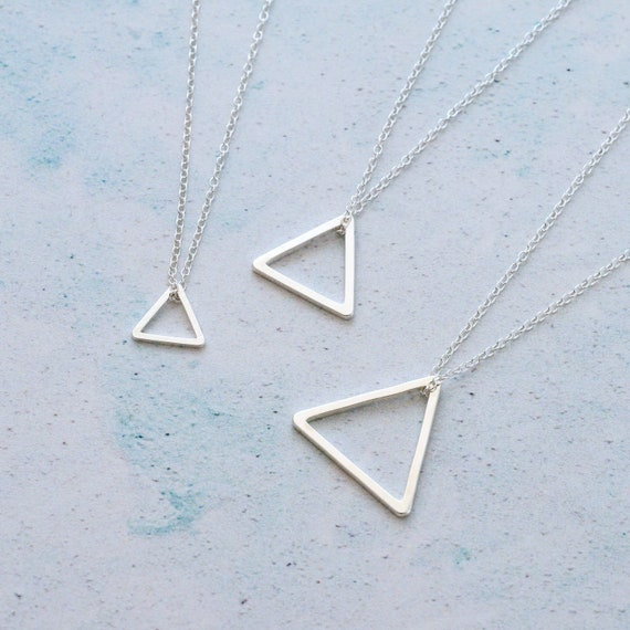 Everyday Silver Triangle Necklace