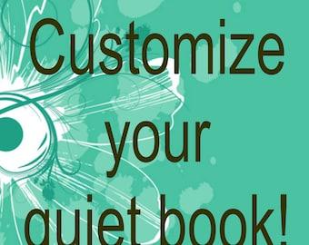 Customize your quiet book