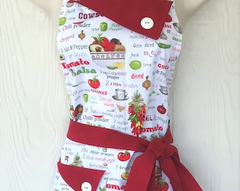 Apron Tex-Mex Mexican Cuisine Retro Style Cooking Apron Bib Apron Gift for Cooks Chefs Kitchen Decor Southwestern Kitchen Style KitschNStyle