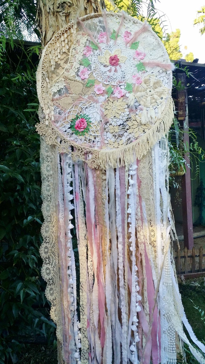 1644c6d85c8 Large Dreamcatcher Shabby Chic Wall Hanging art IN STOCK