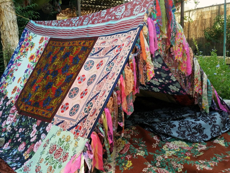 Boho Tent Made To Order Teepee Bohemian Glamping Silk
