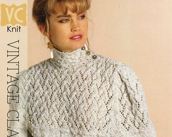 "VINTAGE 80's KNIT | ""Romantic Mist"" Pullover | PDF Instant Upload Pattern"