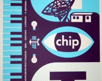 Hot Chip Chicago 2010 original concert poster silkscreen
