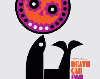 Death Cab For Cutie Red Rocks 2009 Concert Poster silkscreen original STILES
