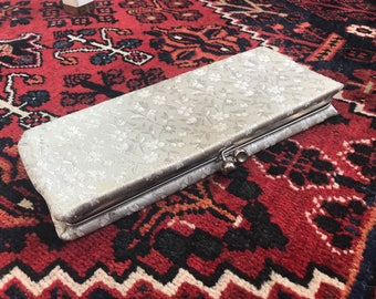 60s Silver Damask Evening Clutch