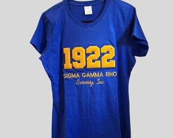 Sigma Gamma Rho Chenille teeshirt