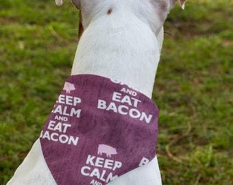 I love Bacon reversible dog bandana dog scarf