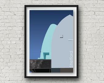 A4 Manchester Print, The Longford Essoldo Cinema, Stretford Wall Art