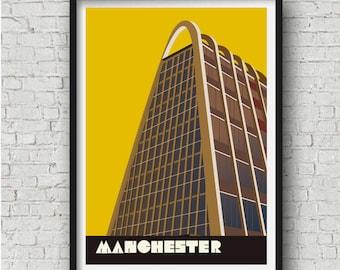 Large Manchester Toast Rack Art Print, Toast Rack Poster,  Manchester Gift, Manchester Wall Art, large wall art, A2, A1