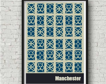 Manchester 2 St Peter's Square, Manchester Poster,  Manchester Gift, Manchester Wall Art, large wall art, A4, A3