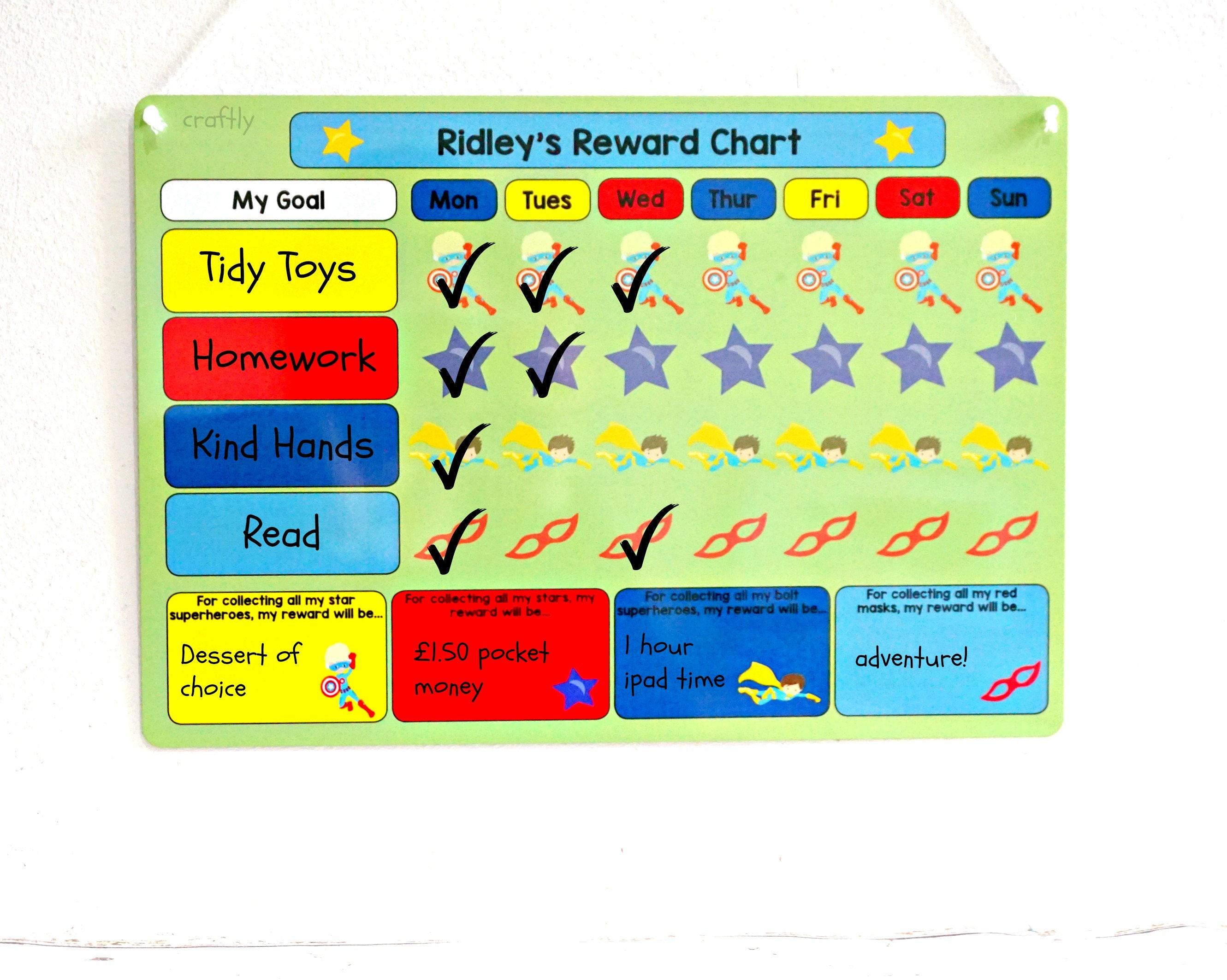 Superhéroe recompensa gráfico muchachos niños tareas Potty   Etsy