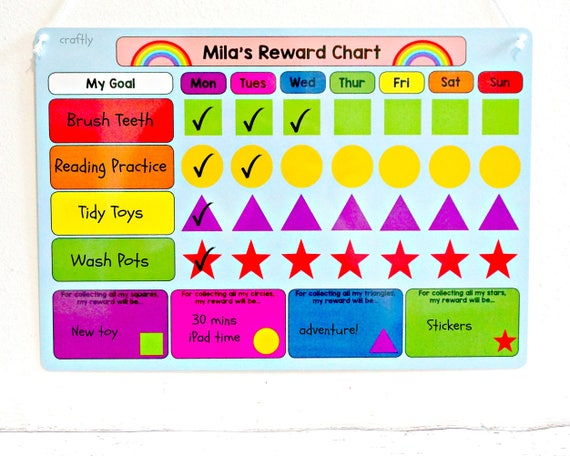 Potty Training Kids Goal Chart Set Reward Behaviors Reading Plan Chores