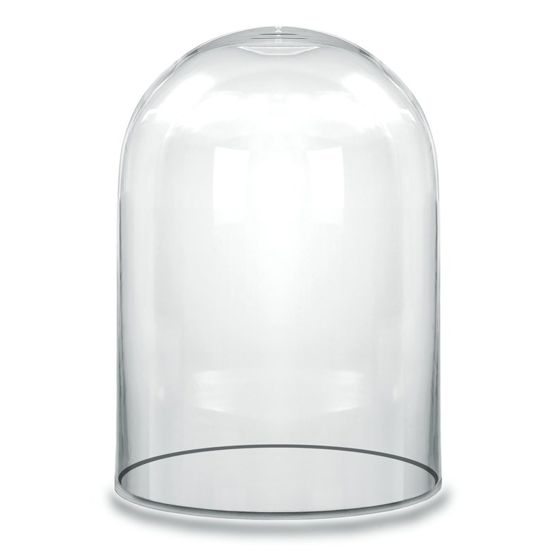 15 Packs Mini Glass Display Dome Cover Doll Crafts Cloche With Wooden Base